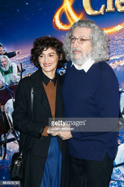 Director and actor of the movie Alain Chabat and actress Audrey Tautou attend 'Santa Cie' Paris Premiere at Cinema Pathe Beaugrenelle on December 3...