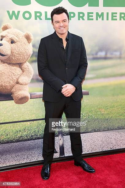 Director and actor Seth MacFarlane attends the New York Premiere of 'Ted 2' at the Ziegfeld Theater on June 24 2015 in New York City
