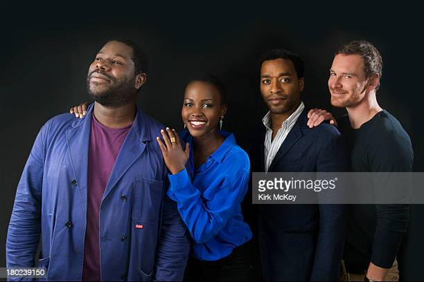 Director and actors of '12 Years a Slave' Chiwetel Ejiofor Michael Fassbender Steve McQueen Lupita Nyong'o are photographed for Los Angeles Times on...