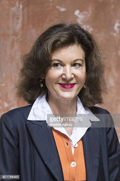 Director and actress Anne Fontaine attends the photocall of the movie ''AGNUS DEI'' at the cloister of the San Luigi's church in Rome Italy on...