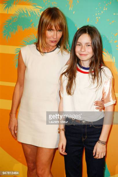 Director and Actress Axelle Laffont and her daughter Mitty Hazanavicius attend 'MILF' Paris Premiere at Cinema Gaumont Capucine on April 17 2018 in...