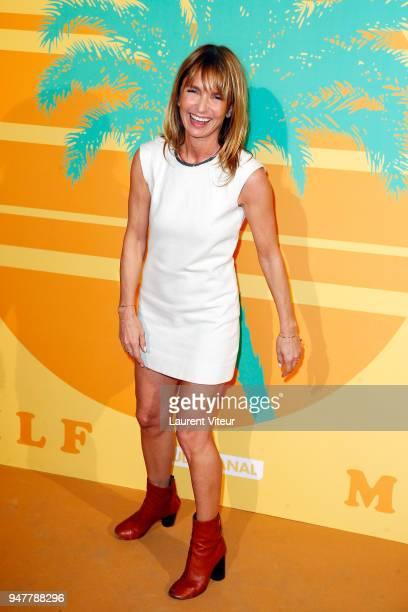 Director and Actress Axelle Laffont attends 'MILF' Paris Premiere at Cinema Gaumont Capucine on April 17 2018 in Paris France