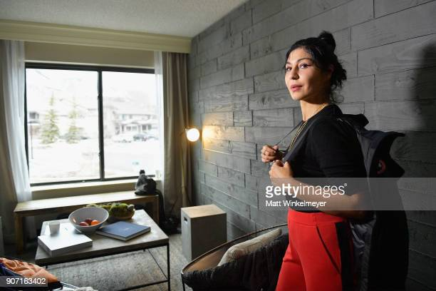 Director and actress Bahar Pars visits the Canada Goose Director Suite during the 2018 Sundance Film Festival at Park City Marriott on January 19...