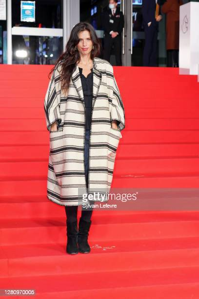 """Director and actress Maiwenn arrives for the photocall for the premiere of """"ADN"""" during 47th Gent Film Festival on October 18, 2020 in Ghent, Belgium."""
