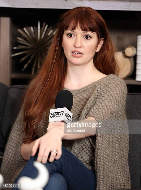 Director and actress Marielle Heller speaks during The Variety Studio At Sundance Presented By Dockers on January 25 2015 in Park City Utah