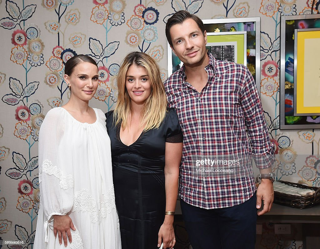 Director and actress Natalie Portman, TV personality Daphne Oz, and husband John Jovanovic attend the after party for the New York premiere of 'A Tale Of Love & Darkness' at Crosby Street Hotel on August 15, 2016 in New York City.