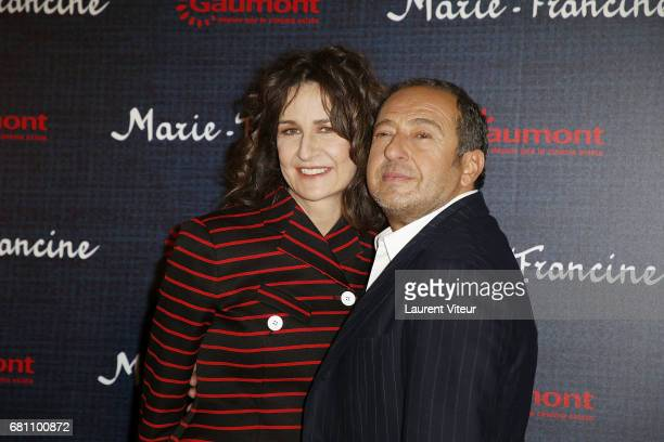 Director and Actress Valerie Lemercier and Actor Patrick Timsit attend 'MarieFrancine' Paris Premiere at Cinema l'Arlequin on May 9 2017 in Paris...