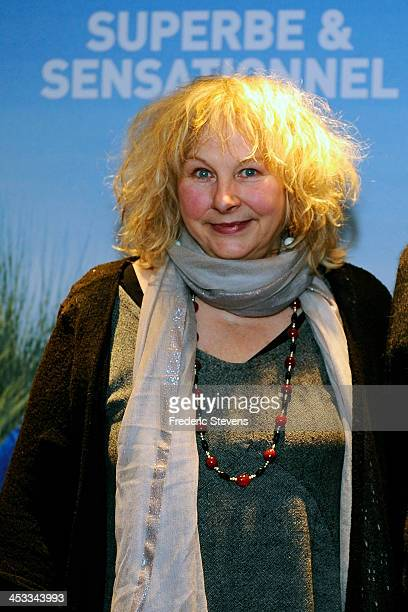 Director and Actress Yolande Moreau attends the 'Henri' Paris premiere at UGC Cine Cite des Halles on December 3 2013 in Paris France