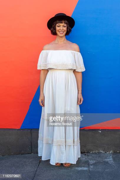 Director and and actress Pollyanna McIntosh attends a photocall for the premiere of Darlin' during the 73rd Edinburgh International Film Festival at...