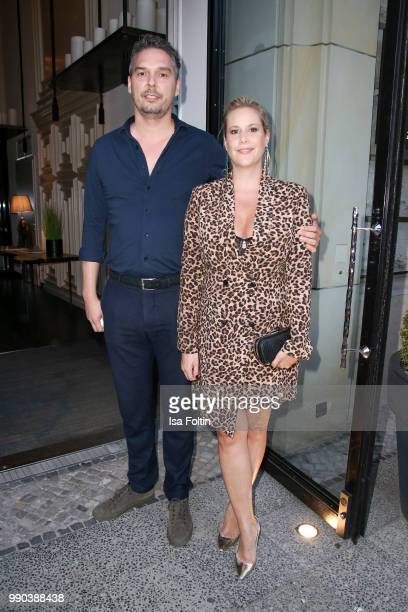 Director and author Anika Decker and guest during the Bunte New Faces Night at Grace Hotel Zoo on July 2 2018 in Berlin Germany