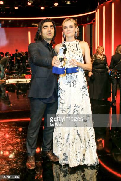 Director and award winner Fatih Akin and actress and award winner Diane Kruger attend the Bayerischer Filmpreis 2018 at Prinzregententheater on...