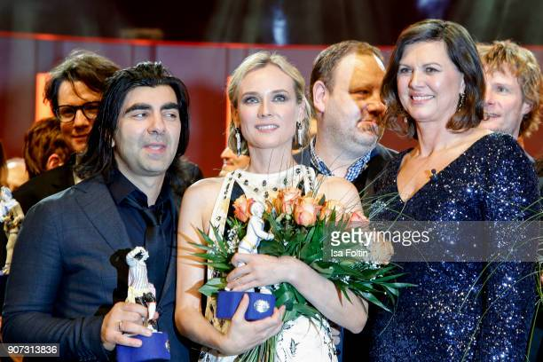Director and award winner Fatih Akin, award winner US actress Diane Kruger and German politician Ilse Aigner attend the Bayerischer Filmpreis 2017 at...