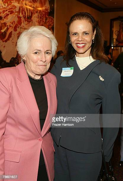 Director and CEO Jean Picker Firstenberg and actress Deborah Pratt attend the AFI luncheon honoring Jean Picker Firstenberg held at Spago on March 15...