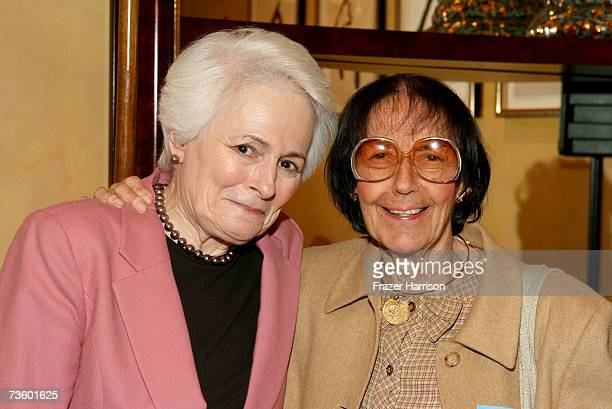 Director and CEO Jean Picker Firstenberg and writer Fay Kanin attend the AFI luncheon honoring Jean Picker Firstenberg held at Spago on March 15 2007...