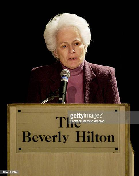 AFI Director and CEO Jean Picker Firstenberg during The 39th Annual Publicists Awards Show at Beverly Hills Hilton in Beverly Hills California United...