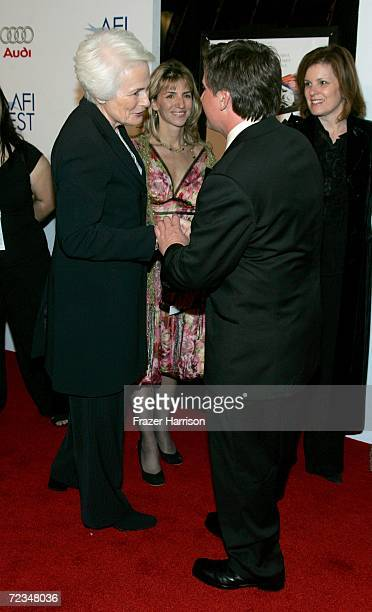 Director and CEO Jean Picker Firstenberg writer/director Emilio Estevez arrive at the AFI FEST presented by Audi opening night gala of Bobby at the...