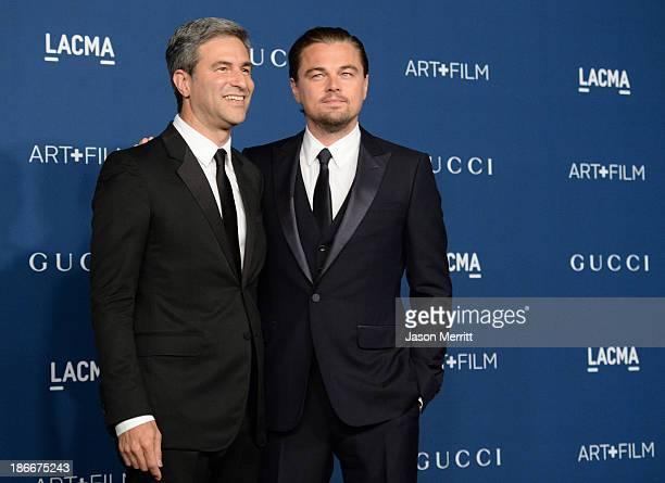 LACMA Director and CEO Michael Govan and Gala CoChair Leonardo DiCaprio wearing Gucci attend the LACMA 2013 Art Film Gala honoring Martin Scorsese...