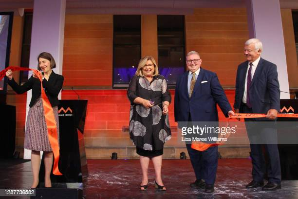Director and CEO of Australian Museum, Kim McKay is joined by Premier of NSW Gladys Berejklian, NSW Minister of the Arts Don Harwin and President of...