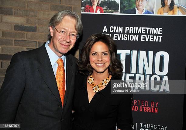 Director and CEO of El Museo del Barrio Julian Zugazagoitia and CNN Anchor Soledad O'Brien attend the New York screening of Latino In America at...