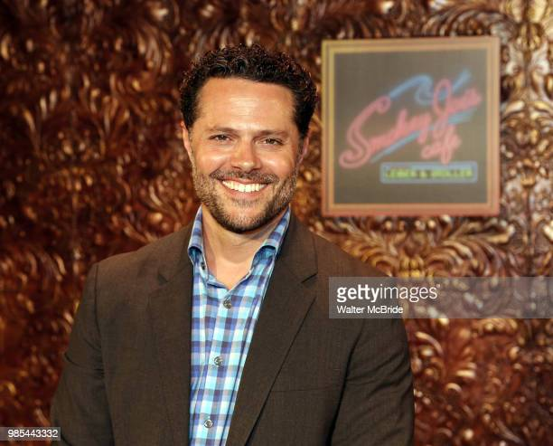 Director and Choreographer Joshusa Bergasse attends the photo call for the new production of 'Smokey Joe's Cafe' at Feinstein's/54 Below on June 27...