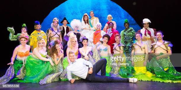 Director and Choreographer Karl Warden and The Soundstage Live Little Mermaid Cast and pose for cast photo following the opening night performance at...