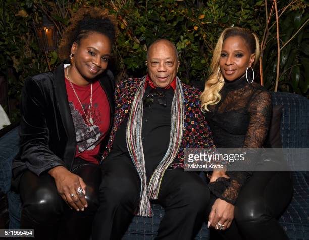 Director and cowriter Dee Rees Quincy Jones and Mary J Blige at 'Mudbound' Special Screening at Chateau Marmont on November 8 2017 in Los Angeles...