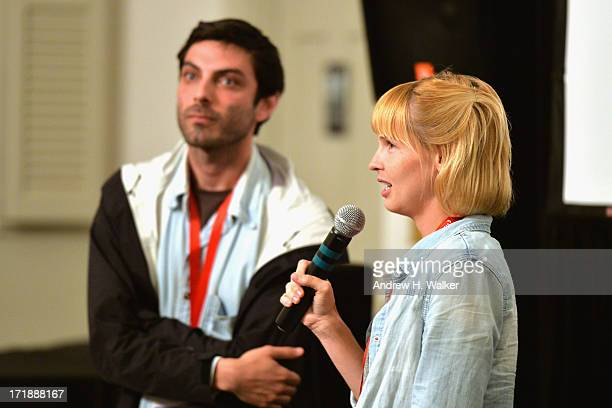 Director and cowriter Matt Creed and cowriter and lead actress Amy Grantham attend the 18th Annual Nantucket Film Festival on June 28 2013 in...