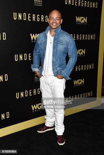 """Director and executive producer Anthony Hemingway arrives at the For Your Consideration Event for WGN America's """"Underground"""" at The Landmark on May..."""