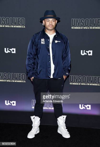 Director and executive producer Anthony Hemingway arrives at the premiere of USA Network's 'Unsolved The Murders of Tupac and The Notorious BIG' at...