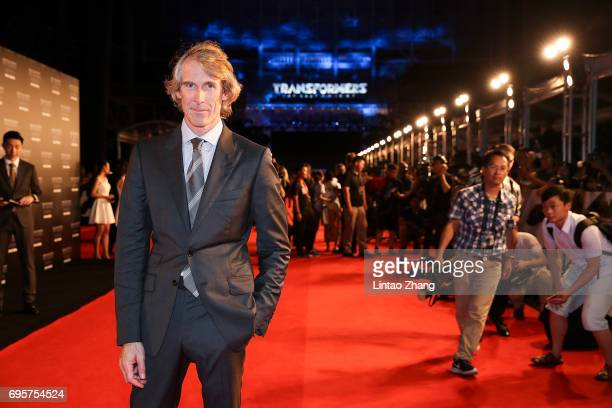 Director and Executive Producer Michael Bay attends the 'Transformers The Last Knight' China World Premiere and Ten Year Anniversary Celebration at...