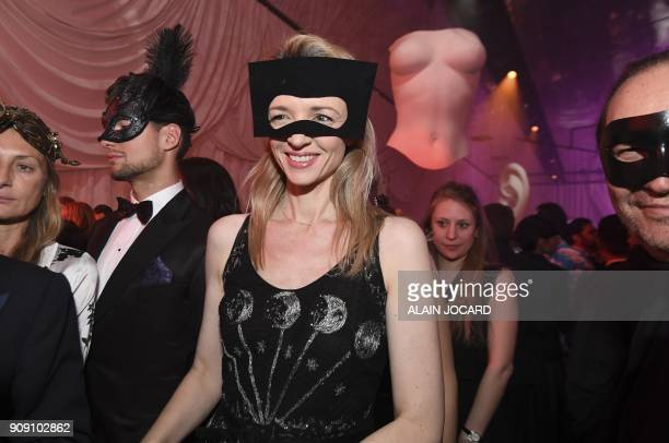 Director and executive Vice President of Louis Vuitton Delphine Arnault arrives to attend the Dior Ball in the grounds of the Rodin Museum in Paris...