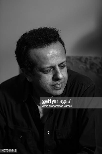Director and Film producer Saman Moghadam looks on during 'Sperm Whale' Movie on October 19 2014 in Tehran Iran