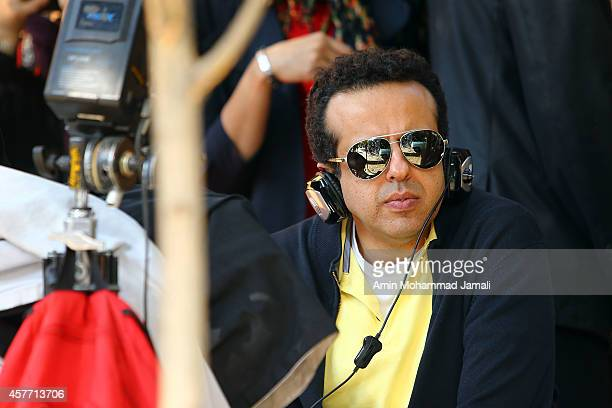 Director and Film producer Saman Moghadam looks on during 'Sperm Whale' Movie on October 22 2014 in Tehran Iran