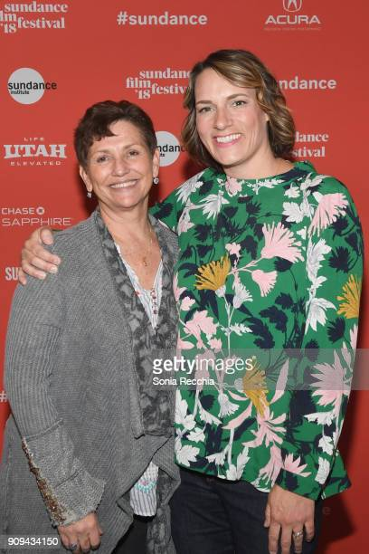 Director and film subject Maria Giese and director Amy Adrion attend the 'Half The Picture' Premiere during the 2018 Sundance Film Festival at...