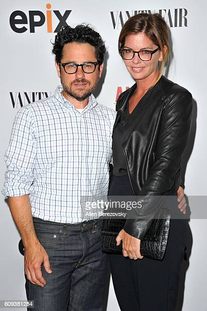 Director and host committee member JJ Abrams and host committee member Katie McGrath attend the Premiere of Epix's 'America Divided' at Billy Wilder...