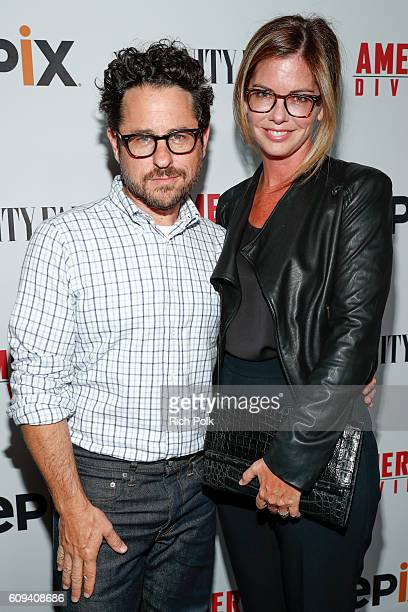 Director and host committee member JJ Abrams and host committee member Katie McGrath attend the premiere of Epix's America Divided at Billy Wilder...
