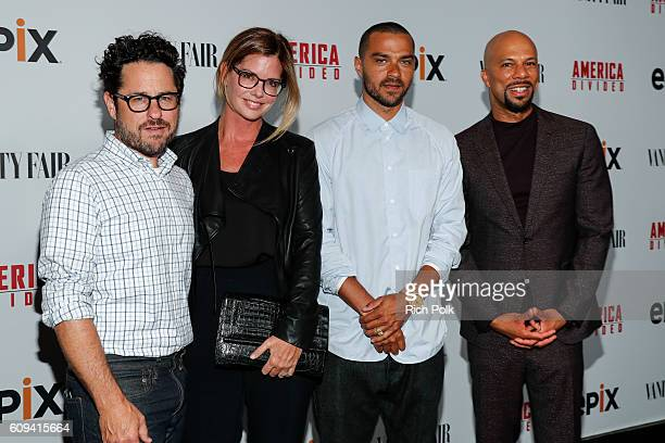 Director and host committee member JJ Abrams host committee member Katie McGrath Senior Producer Jesse Williams and executive producer Common attend...
