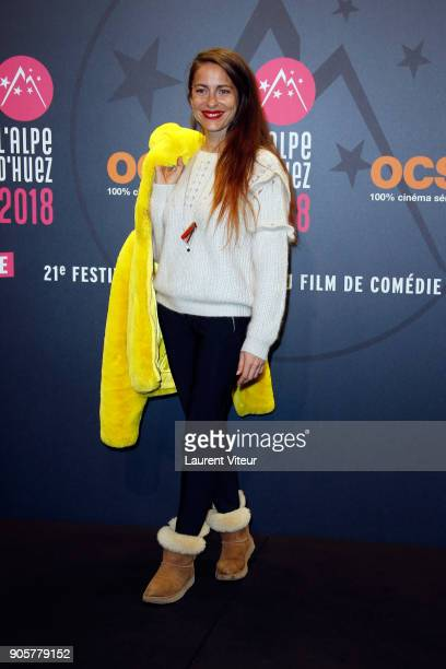 Director and Jury Member Audrey Dana attends Opening Ceremony during the 21st L'Alpe D'Huez Comedy Film Festival on January 16 2018 in Alpe d'Huez...