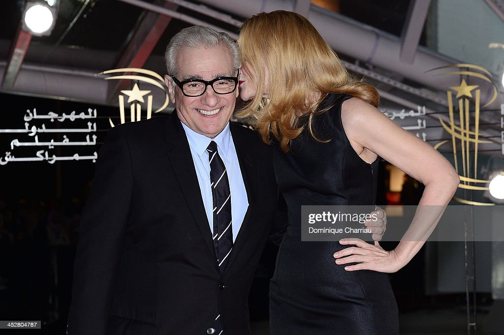 Director and Jury President Martin Scorsese and actress and Jury Member Patricia Clarkson attend the 'Like Father, Like Son' premiere during the 13th Marrakech International Film Festival on December 1, 2013 in Marrakech, Morocco.