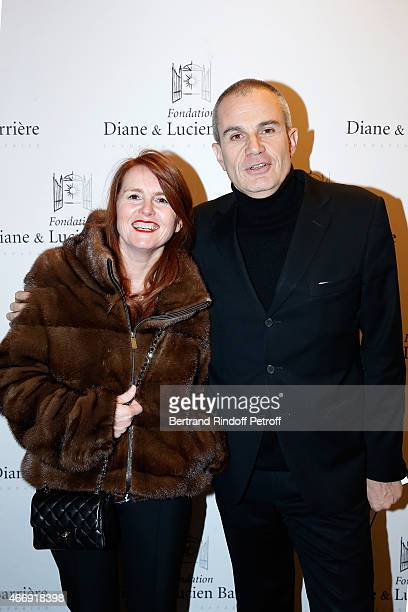 Director and Laureate 2014 MarieCastille MentionSchaar and Journalist Laurent Weil attend movie 'Les Chateaux de Sable' receives Cinema Award 2015 of...
