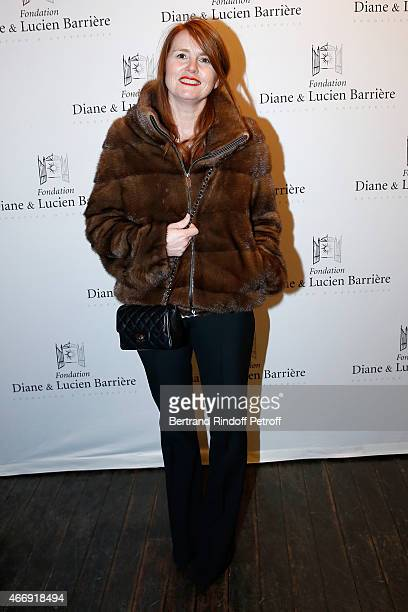 Director and Laureate 2014 MarieCastille MentionSchaar attends movie 'Les Chateaux de Sable' receives Cinema Award 2015 of Foundation Diane Lucien...