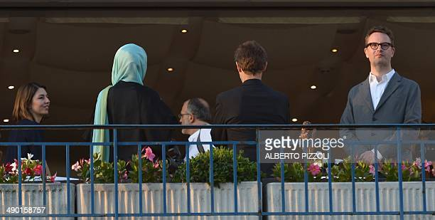 US director and member of the Feature films Jury Sofia Coppola and fellow Jury members Iranian actress Leila Hatami US actor Willem Dafoe and Danish...