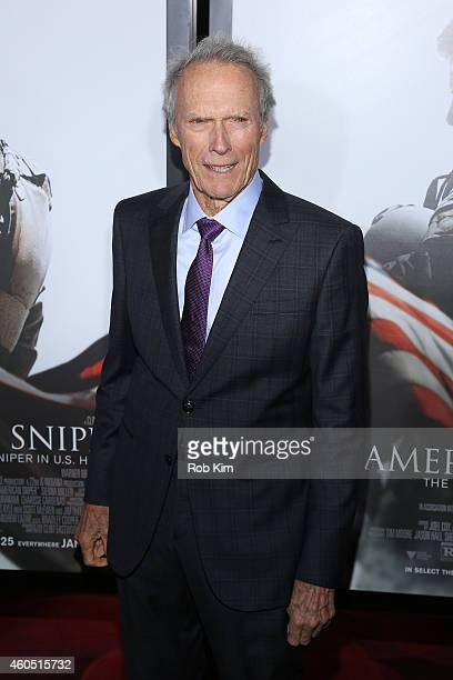 Director and Producer Clint Eastwood arrives at the American Sniper New York Premiere at Frederick P Rose Hall Jazz at Lincoln Center on December 15...
