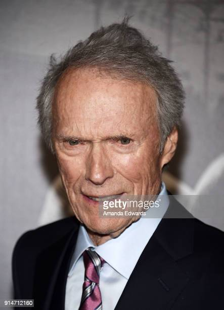 Director and producer Clint Eastwood arrives at the premiere of Warner Bros Pictures' The 1517 To Paris at Warner Bros Studios on February 5 2018 in...