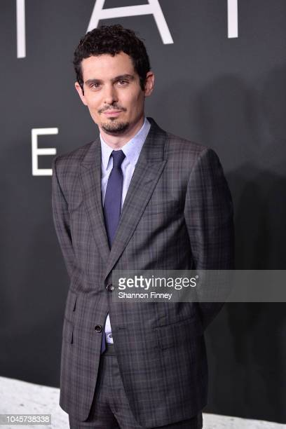 Director and producer Damien Chazelle attends the First Man premiere at the National Air and Space Museum on October 4 2018 in Washington DC