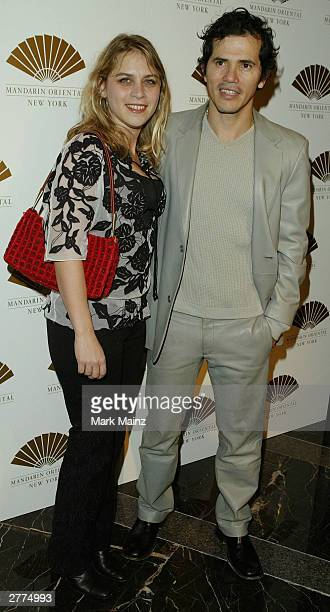 Director and producer John Leguizamo and wife Justine Maurer attend the gala opening of the Mandarin Oriental New York at the Mandarin Oriental...