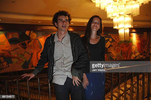 Director and producer Jonas Cuaron and actress Eirann Harper pose during presentation of the 'Ano Una' movie at Maria Isabel Sheraton Hotel on July...