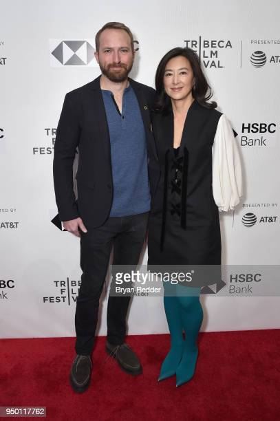 Director and Producer Neil Gelinas and Executive Producer Clara Wu Tsai attends the National Geographic premiere screening of 'Into the Okavango' on...