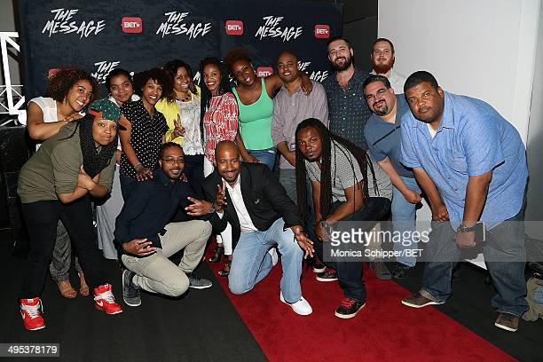 Director and producer Sam Walker II and The Message Team attend BET's The Message Premiere Screening Panel Discussion at The Paramount Screening Room...
