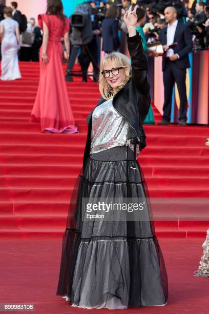 Director and producer Tatyana Voronetskaya attends opening of the 39th Moscow International Film Festival outside the Karo 11 Oktyabr Cinema on June...